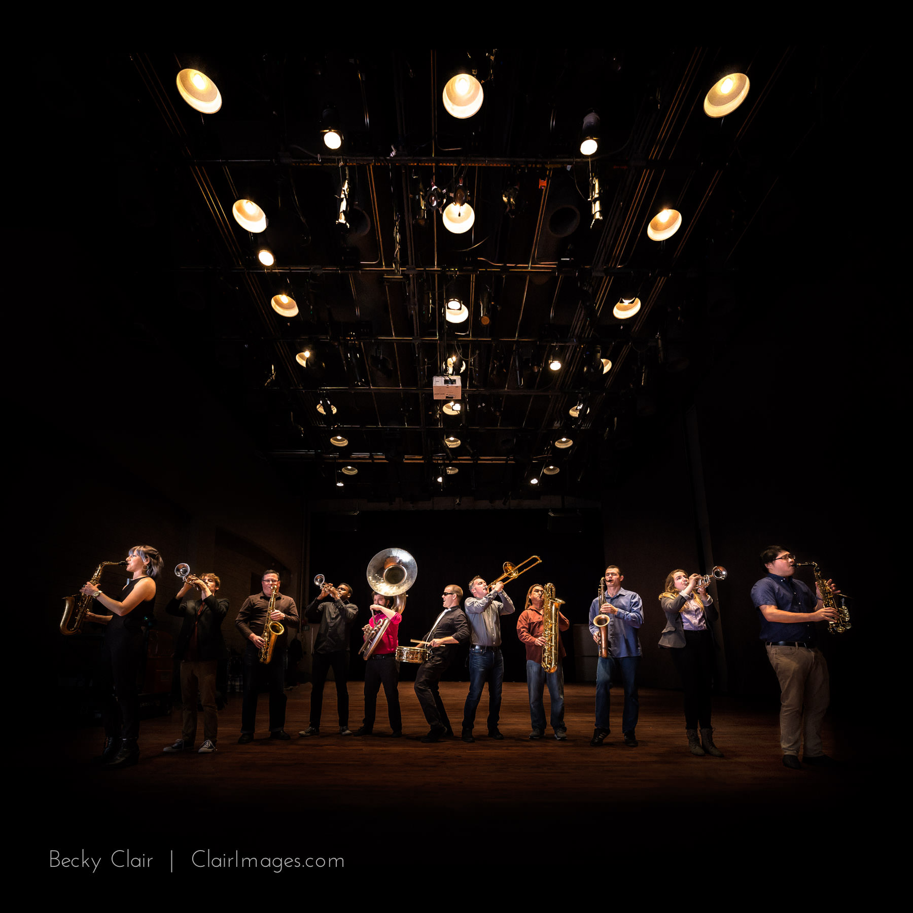 San Luis Obispo Music Photography - Brass Mash - Clair Images