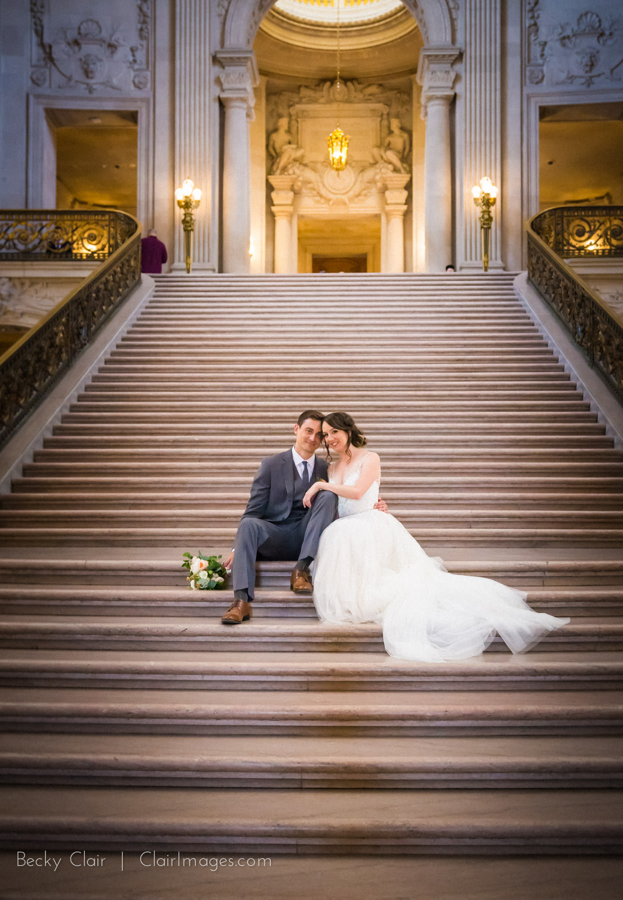 San Francisco Weddings - San Francisco City Hall © Clair Images 2017