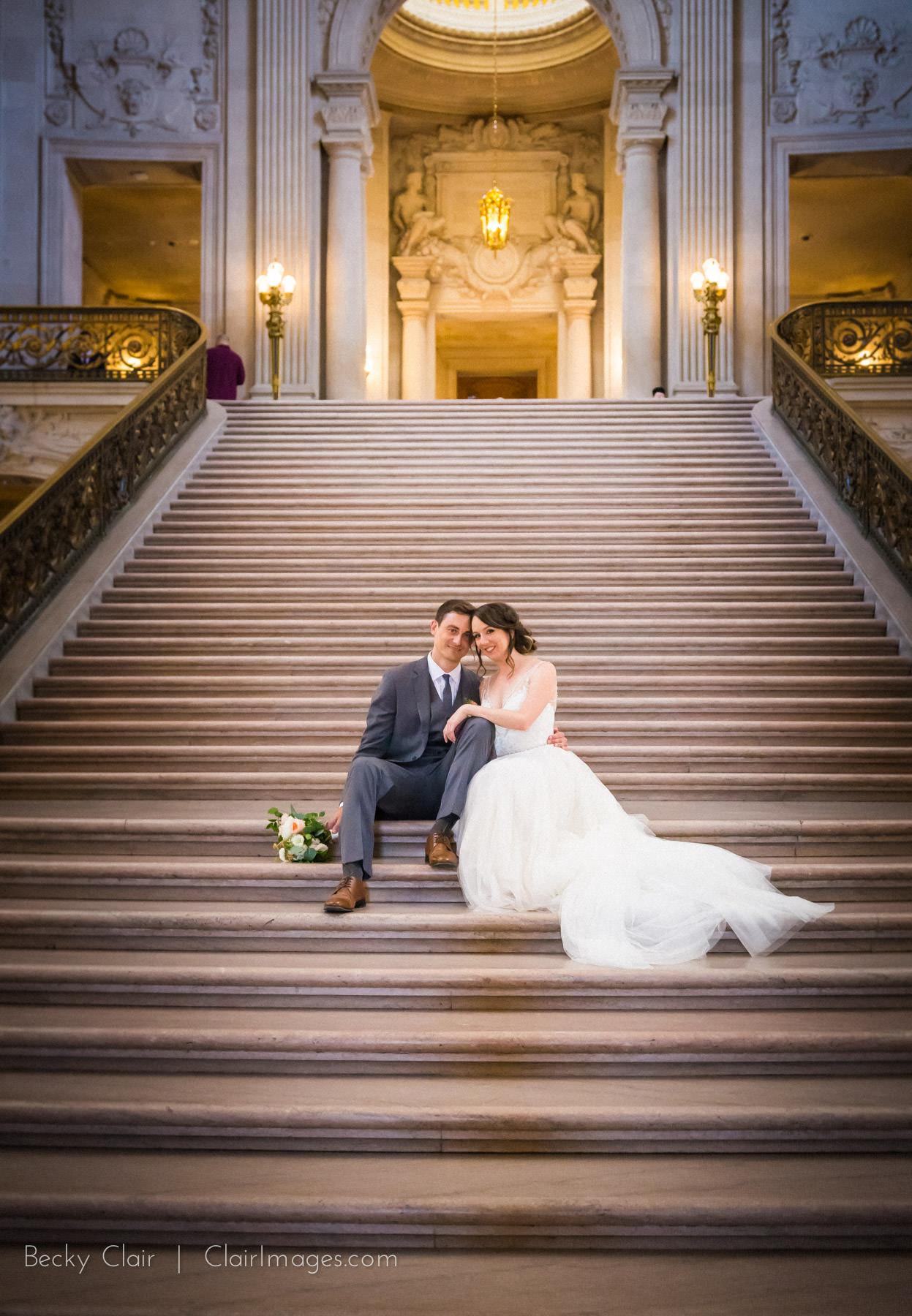 San Francisco Weddings - San Francisco City Hall © Clair Images 2017