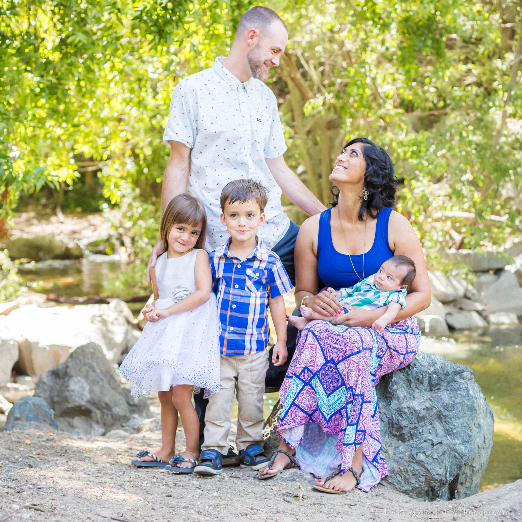 San Luis Obispo Family Portraits - Partridge Family - Clair Images Mini Sessions - Cuesta Park
