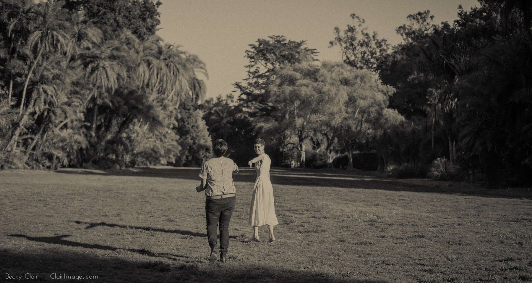 Santa Barbara Engagement Photography - Clair Images - Reese & Lauren's Lotusland Engagement Session